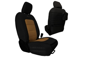 Bartact Tactical Series Front Seat Covers - Black/Coyote - JT