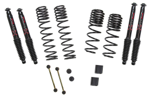 Skyjacker Suspension 1in - 1.5in Dual Rate-Long Travel Lift Kit System with Black MAX Shocks - JL RUBICON