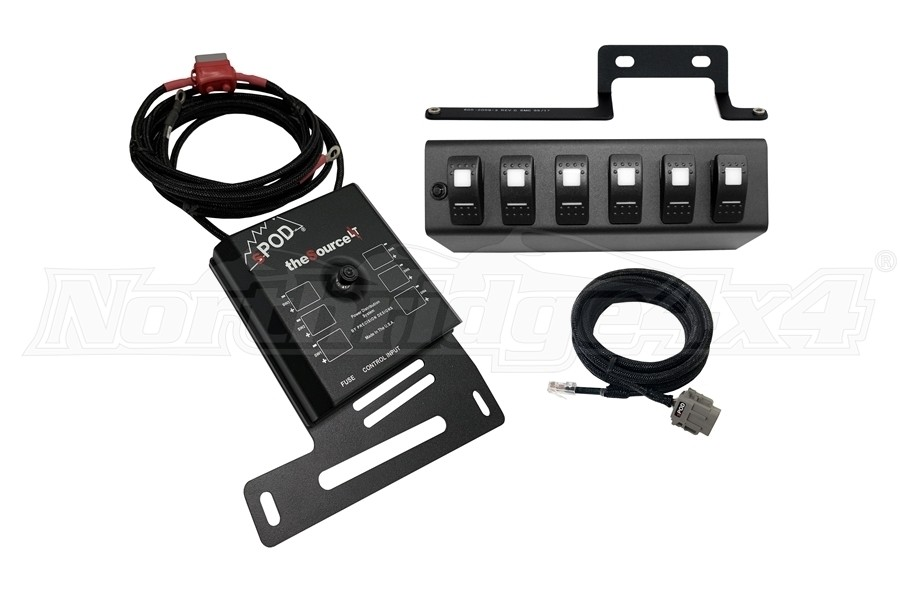 sPOD Source LT w/ LED Switch Panel - Red - JK 2009+