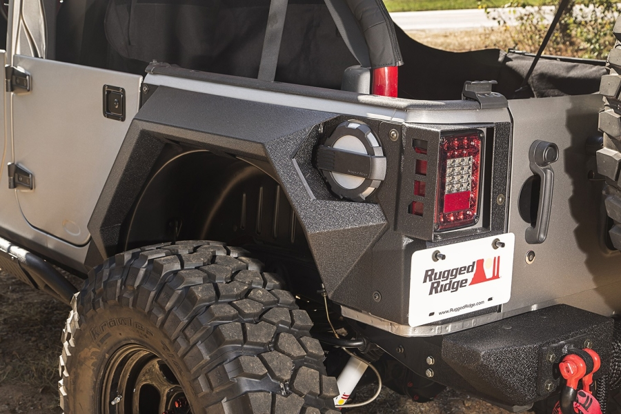 Rugged Ridge XHD Rear Armor Fenders  - JK 4Dr