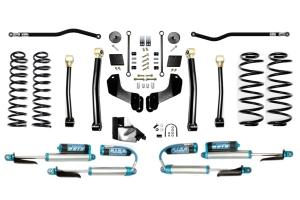 Evo Manufacturing 4.5in Enforcer Overland PLUS Stage 3 Lift Kit w/ Comp Adjuster Shocks - JL 4Dr Diesel