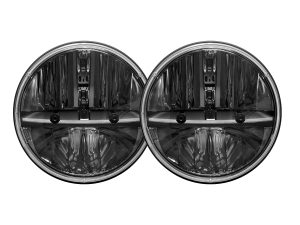 Rigid Industries Truck-Lite Series Round Headlights w/H13-H4 Adaptors 7in ( Part Number: 55001)
