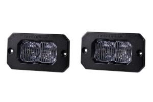 Diode Dynamics SS2 Sport Flush LED Pods - White/Amber Fog