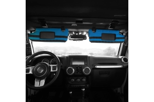 Bartact PALS MOLLE Visor Covers for Visors w/ Mirrors - Blue - JK