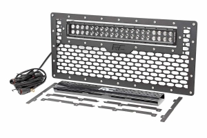 Rough Country Grille w/ Black Series Dual Row Light Bar 20in (Part Number: )