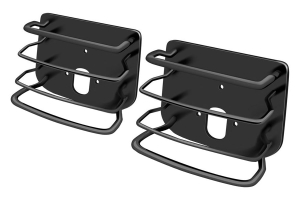 Smittybilt Rear Euro Style Tail Light Guards Black (Part Number: )