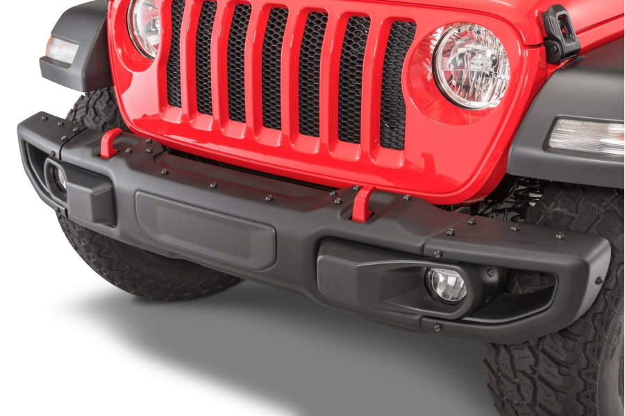 Mopar 3 piece Full Width Rubicon Front Bumper (Part Number:82215121)