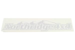 Northridge4x4 Sticker Silver 24in
