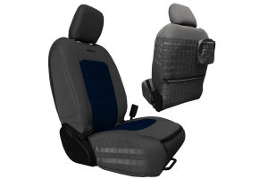Bartact Tactical Front Seat Covers Graphite/Navy Blue (Part Number: )