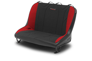 MasterCraft Rubicon Rear Bench Seat w/o Headrests Black / Red (Part Number: )