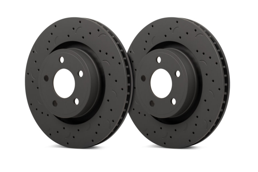Hawk Performance Talon Street Front Rotors - Cross-Drilled and Slotted - JL