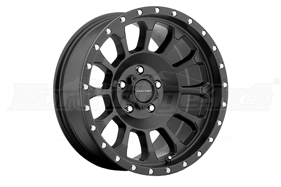 Pro Comp Xtreme Alloys Series 5034 Rockwell Satin Black Wheels 18x9 5x5 (Part Number:5034-8973)