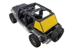 SpiderWebShade 1-Piece Cargo Shade Cover - Yellow - JK 4Dr