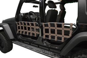 Dirty Dog 4X4 Olympic Front & Rear Tube Door Netting, Sand - JK 4DR