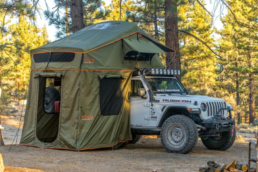 Roam Vagabond XL Tent Annex Room- Forest Green/Hyper Orange