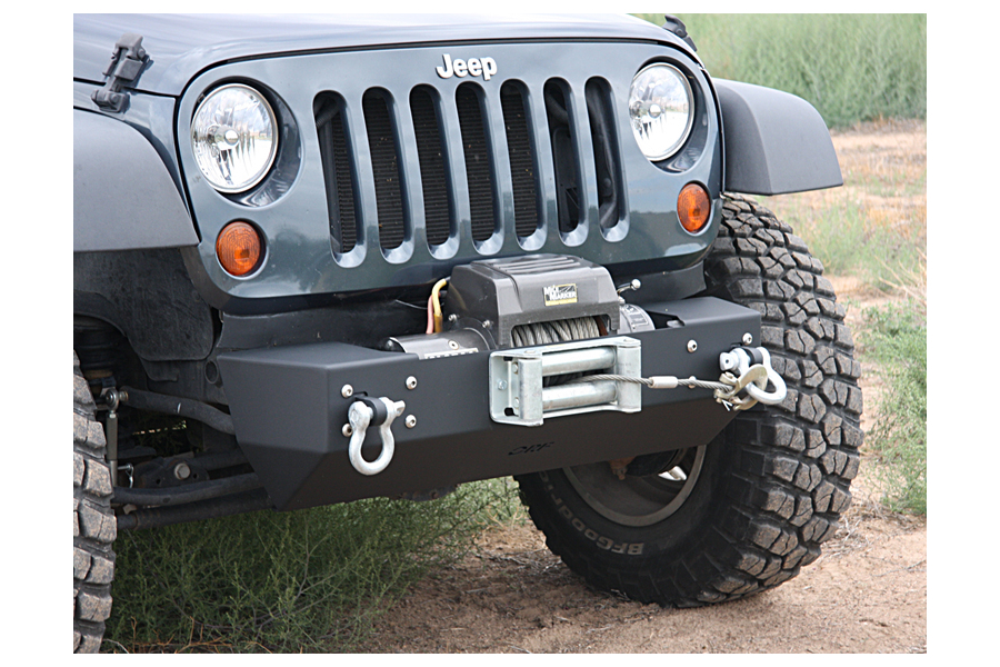 OR-Fab Front Stubby Bumper Center Winch Mount Wrinkle Black (Part Number:83220)