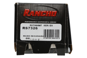 Rancho Performance RS7000 Monotube Shock Front, 2IN Lift (Part Number: )