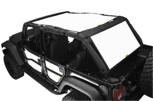 Dirty Dog 4x4 Sun Screen 2 Piece Front Back and Rear White (Part Number: )
