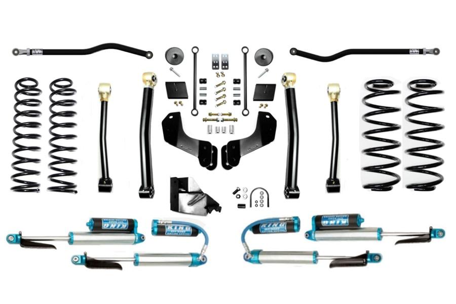 EVO Manufacturing 4.5in Enforcer Overland Stage 3 Plus Lift Kit w/ Comp Adjusters - JL 4Dr