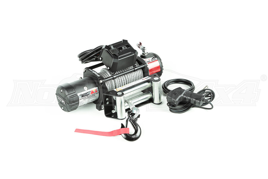 Rugged Ridge Winch, 12500 LBS, Cable, Waterproof (Part Number:15100.22)