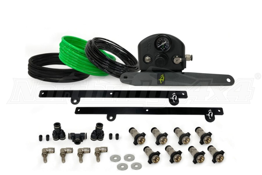 Up Down Air 4-Tire Inflation System - Black - JT