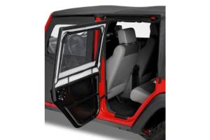 Bestop Element Rear Upper Fabric Doors - Black Twill - JT / JL 4Dr