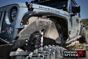 Poison Spyder Inner Fenders Vented Raw (Part Number: )