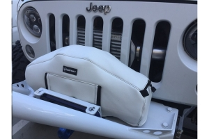 Bartact Winch Cover for Warn Zeon 10 and 12K Winch, Vinyl White (Part Number: )