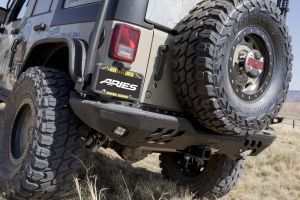Aries Trail Chaser Rear Bumper Corners - JK