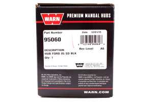 Warn Premium Locking Hubs Black (Part Number: )
