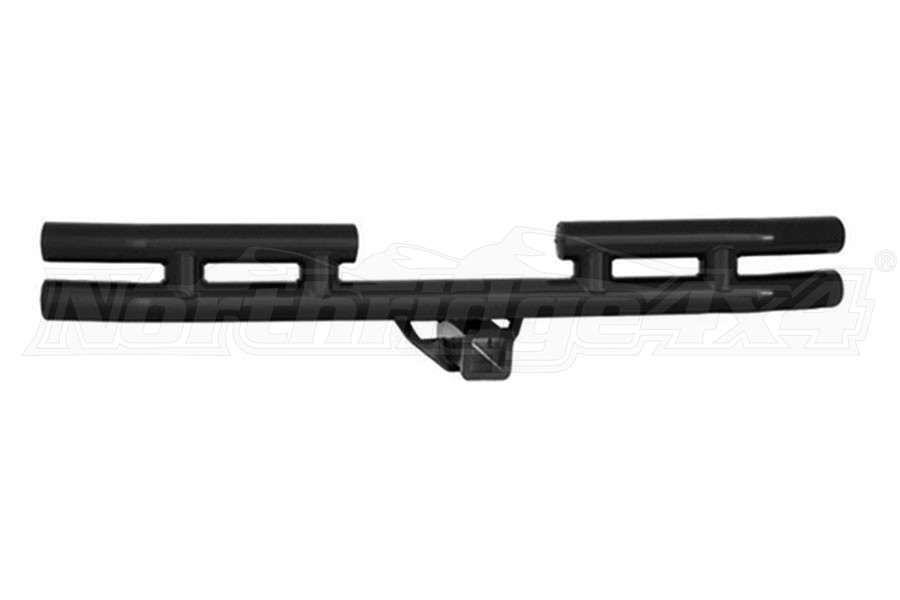 Smittybilt Tubular Rear Bumper W/Hitch Texture Black (Part Number:JB44-RHT)