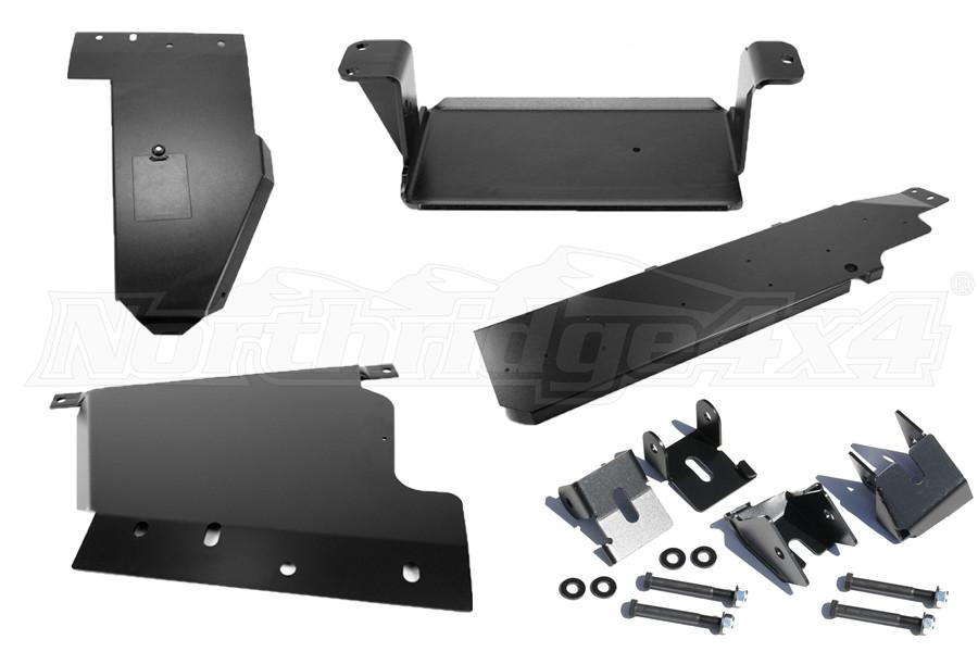 Rock Hard 4x4 Skid Plate Package 2, w/Control Arm Skids - JK 4dr