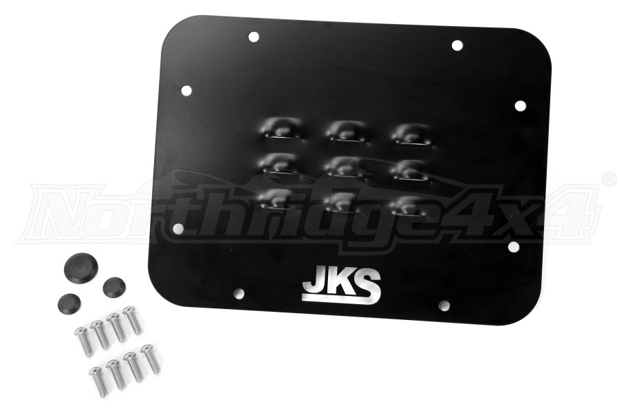 JKS Louvered Tailgate Vent Cover Black (Part Number:8200)
