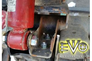 EVO Manufacturing Shock Relocation Brackets Front - JK