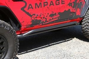 Rampage Rail Side Rocker Guard Steps, Black - JL 4DR