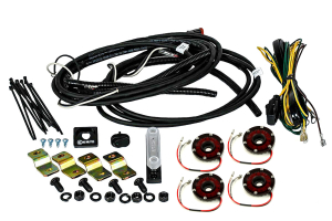 KC Hilites Rock Light Kit, 4 Lights, Red (Part Number: )