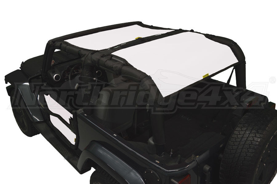 Dirty Dog 4x4 Sun Screen Front and Rear, Sand (Part Number:J2SS07F2SD)