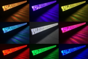 Quake LED Ultra Accent Series 8 Inch LED RGB Light Bar with Quad Lock/Interlock