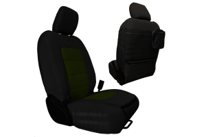 Bartact Tactical Front Seat Covers Black/Olive (Part Number: )