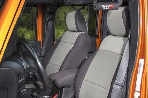 Rugged Ridge Seat Cover Kit Black/Grey - JK 2dr 2011+