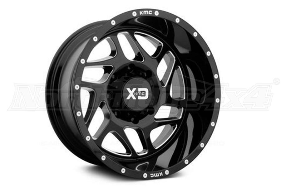 XD Series Wheels XD Fury 20x9 5x5 Gloss Black (Part Number:XD83629050300)