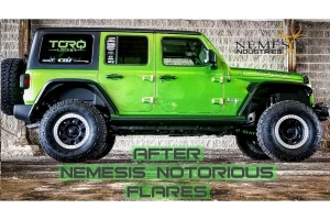 Nemesis Industries Rear Notorious Fender Flares, Bare - JL