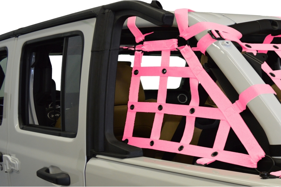 Dirty Dog 4x4 2pc Cargo side only Netting Kit, Pink - JL 4Dr