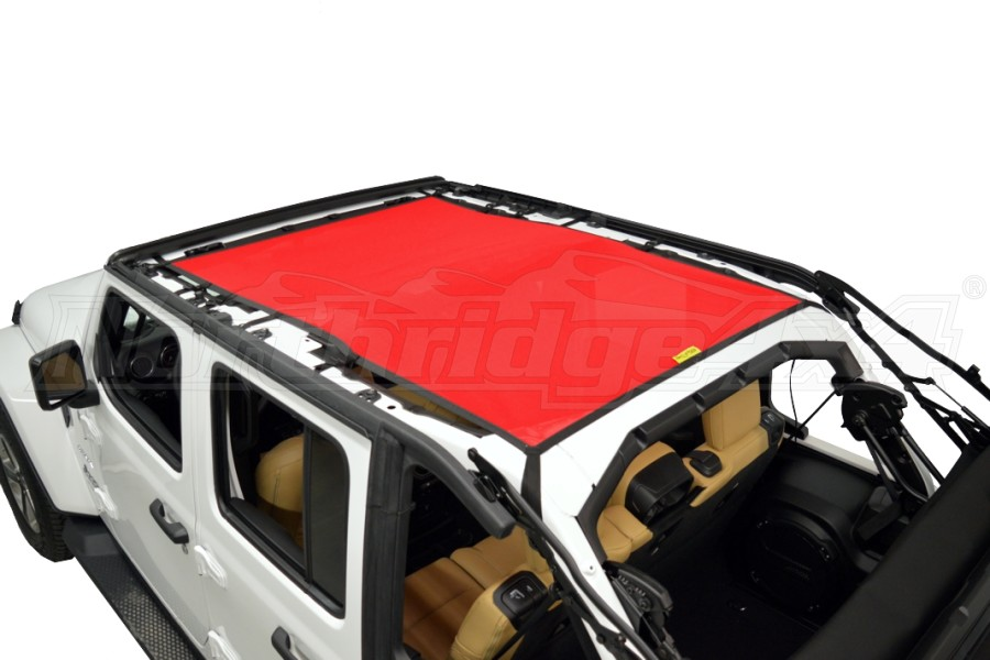 Dirty Dog 4x4 Sun Screen Safari length - Red (Part Number:JL4S18S1RD)