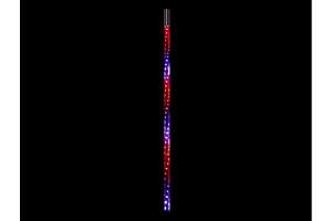 Quake LED 3 Foot RGB Accent CB Antenna w/Quad Lock/Interlock