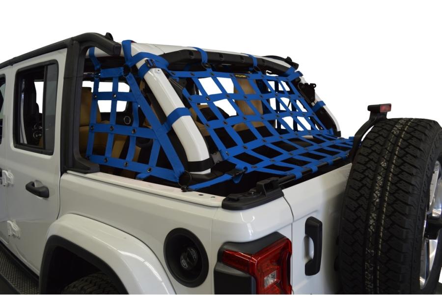 Dirty Dog 4x4 3pc Cargo Side Netting Kit, Blue  - JL 4Dr