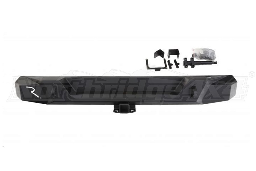 Rampage TrailGuard Full Width Rear Bumper with Tire Carrier - JL