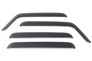 Rugged Ridge Window Visors Matte Black (Part Number: )