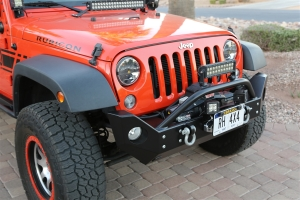 Rock Hard 4x4 Patriot Series Mid Width Front Bumper w Lowered Winch Plate (Part Number: )