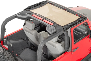 Dirty Dog 4x4 Front Seat Sun Screen Sand (Part Number: )